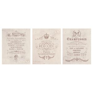 Set of 3 French Poster Prints 16 x 20